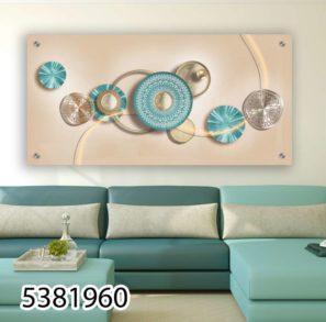 תמונה יוקרתית מזכוכית תלת ממדית לסלון או לפינת אוכל דגם 5381960