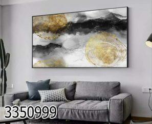 תמונה על זכוכית אבסטרקט מודרני לסלון או לפינת אוכל דגם 3350999