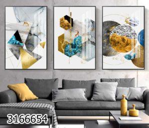 תמונות לסלון צורות גיאומטריות דגם 3166654