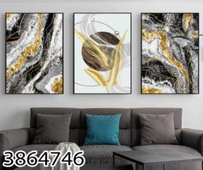 סט 3 תמונות זכוכית לסלון אבסטרקט נוצות 2# דגם 3864746