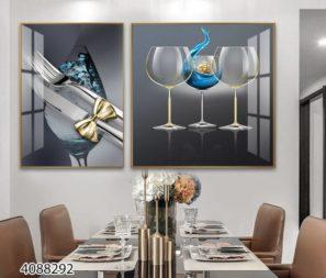 סט תמונות חגיגיות למטבח או לפינת אוכל של מזון ומשקאות תמונות זכוכית יוקרתיות דגם 4088292