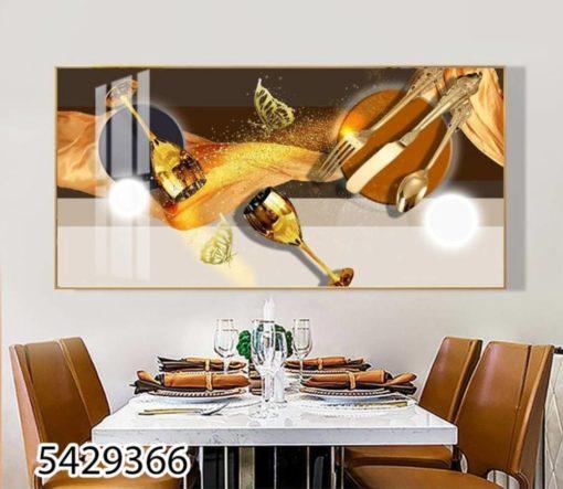 תמונה לפינת אוכל או למטבחים על זכוכית יוקרתית - שולחן הזהב - דגם 5429366
