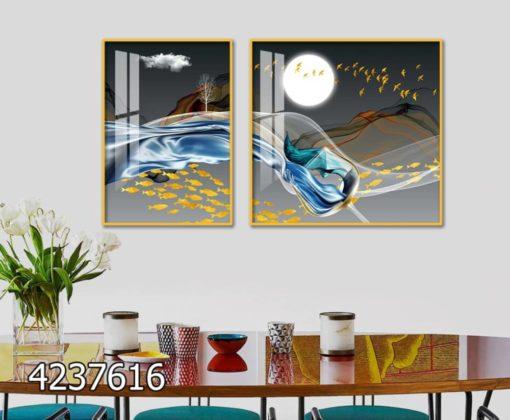 תמונות מעוצבות - סט תמונות זכוכית יוקרתיות למטבח או לפינת אוכל דגם 4237616